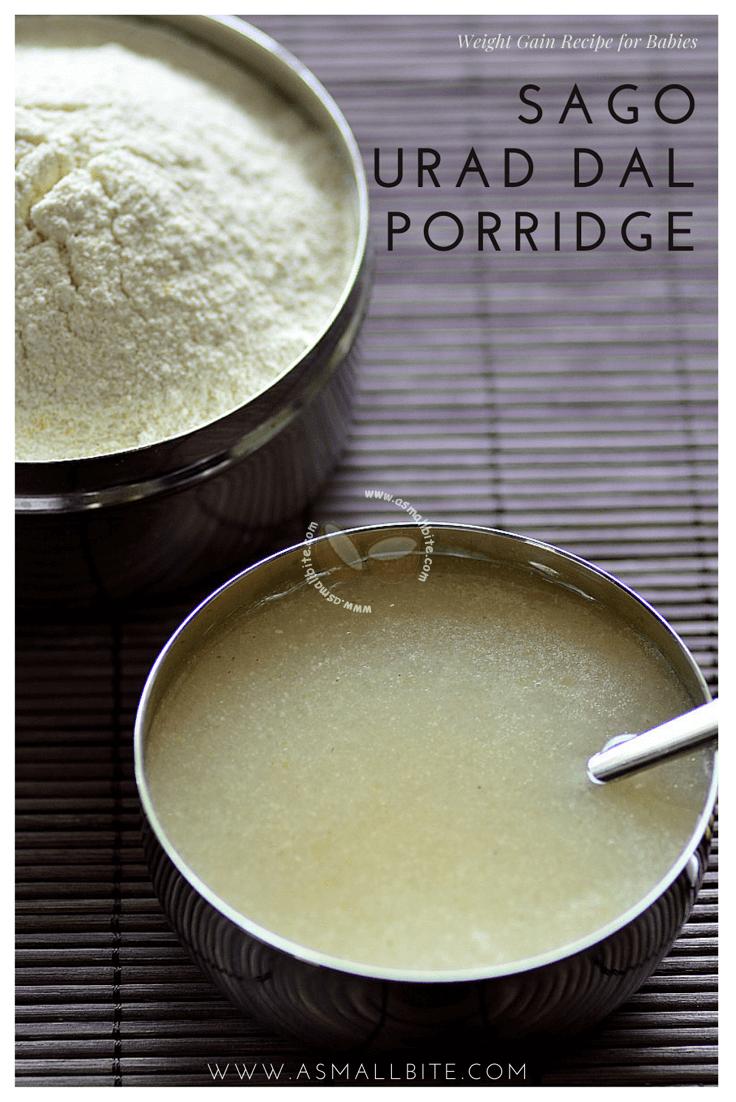 Sago Urad Dal Porridge for Babies