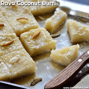 Rava Coconut Burfi