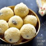 Rava Coconut Ladoo Recipe | Rava Laddu with Coconut