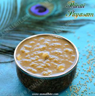 Thinai Payasam