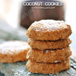 Eggless Coconut Cookies Recipe | Coconut Biscuits