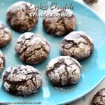 Eggless Chocolate Crinkle Cookies Recipe