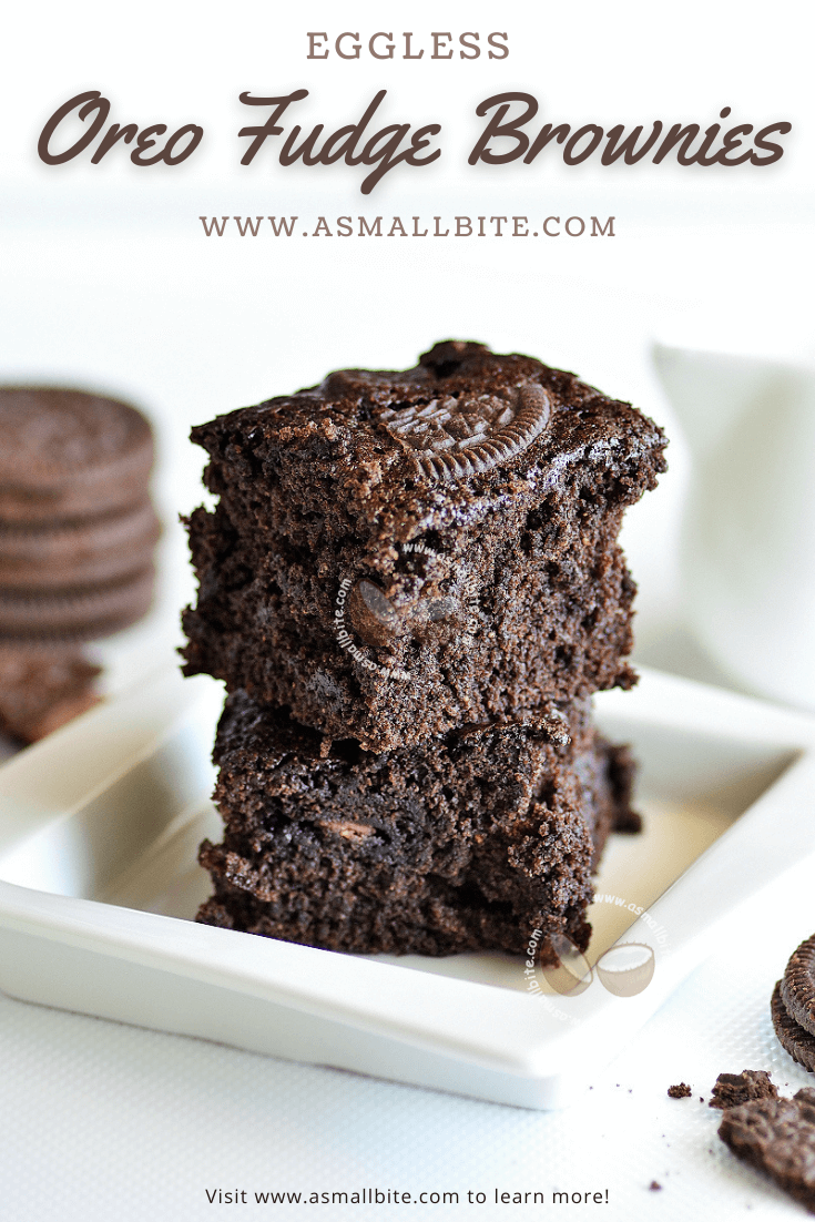 Eggless Oreo Fudge Brownies