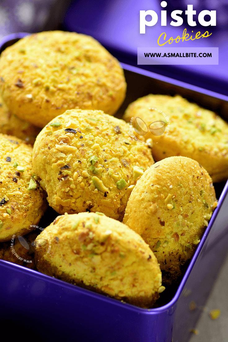 Pista Cookies Recipe