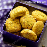 Eggless Pistachio Cookies Recipe | Pista Biscuits Recipe