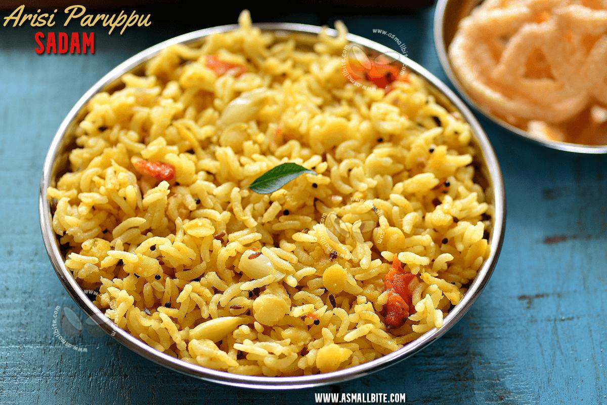 Arisi Parappu Sadam Recipe