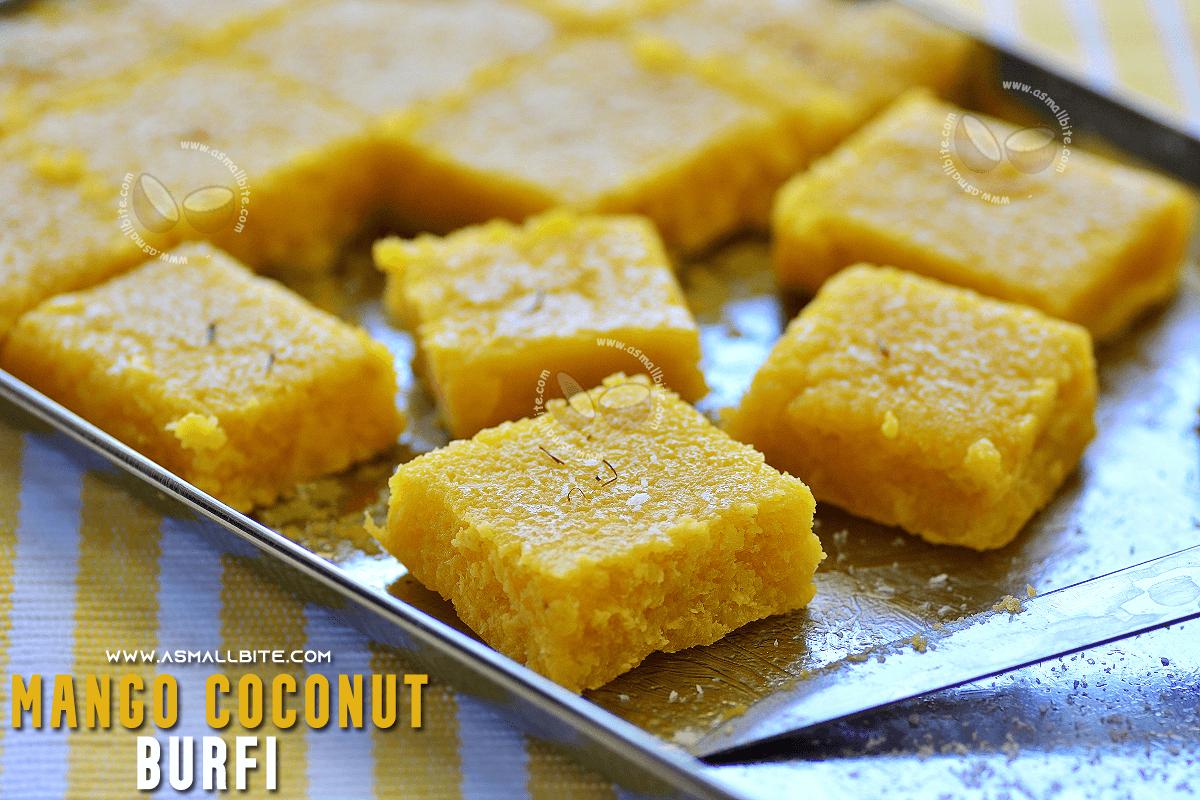 Mango Coconut Burfi Recipe