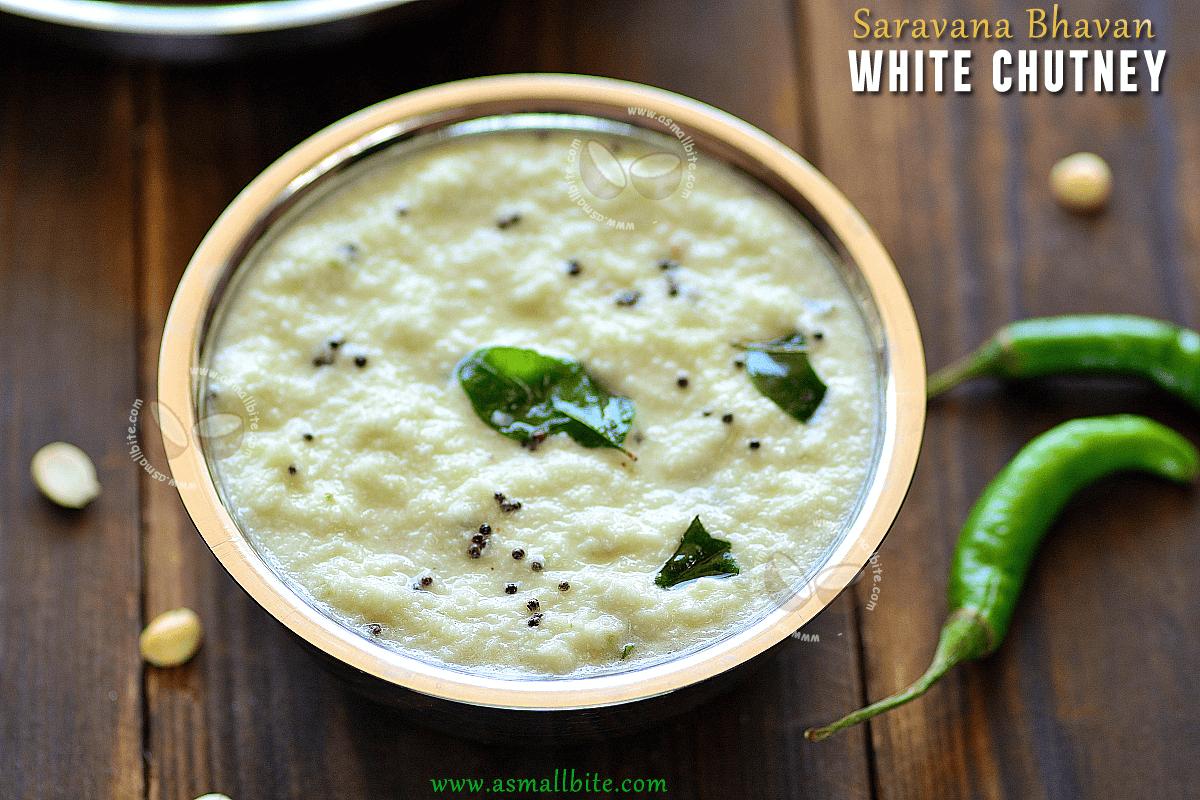 Saravana Bhavan White Chutney Recipe