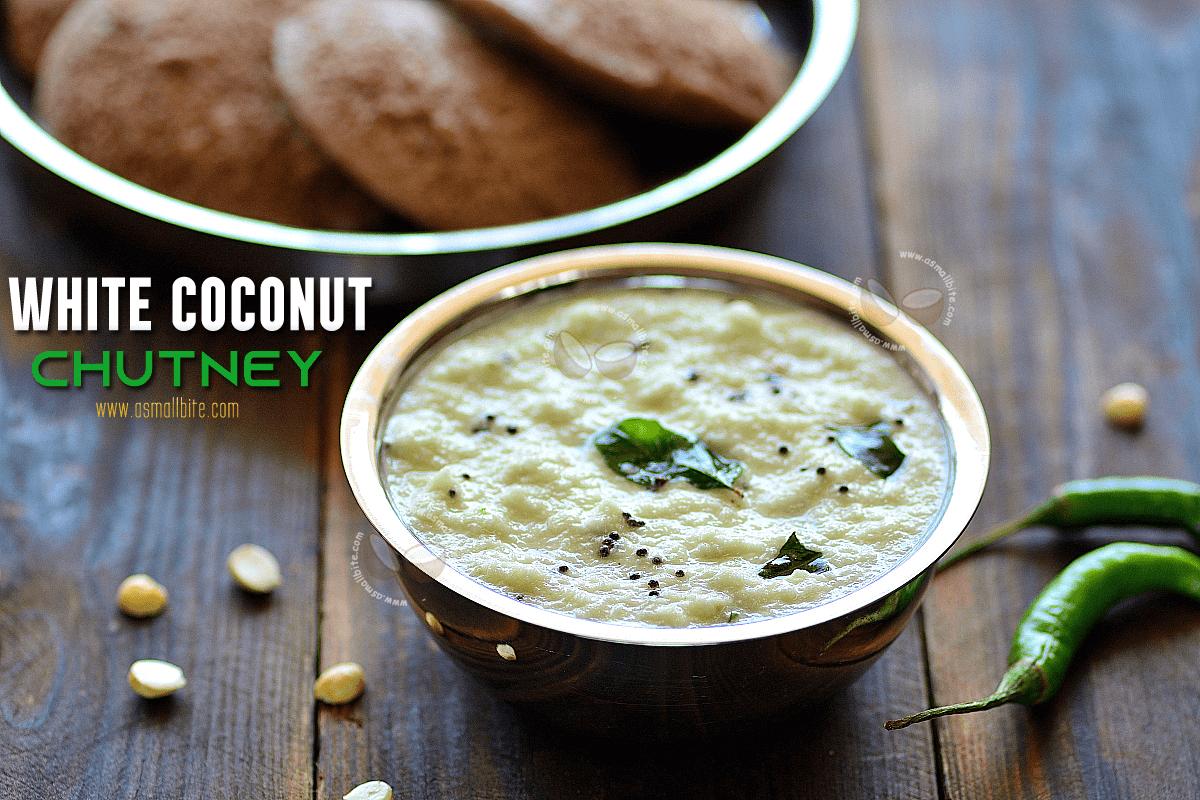 White Coconut Chutney Recipe