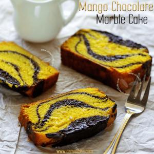 Mango Chocolate Marble Cake