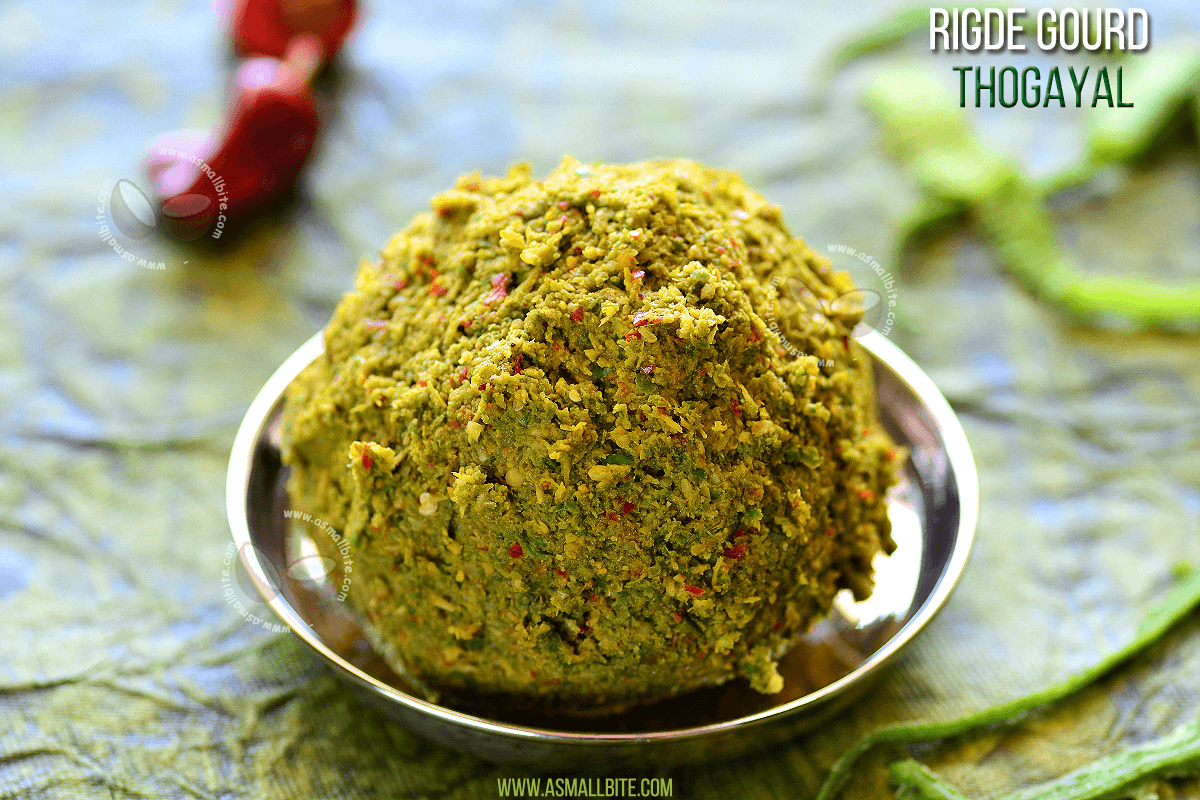 Ridge Gourd Thogayal Recipe