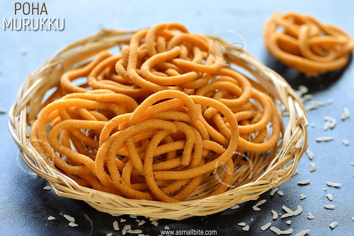 Poha Murukku Recipe